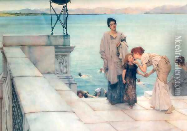 A Kiss Oil Painting - Sir Lawrence Alma-Tadema