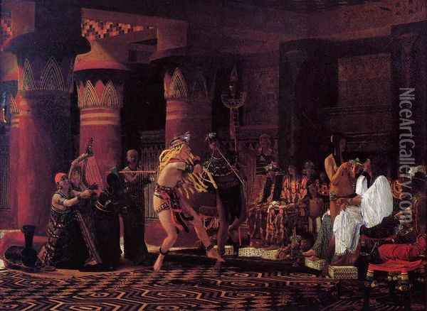 Pastimes in Ancient Egypt, 3,000 Years Ago Oil Painting - Sir Lawrence Alma-Tadema