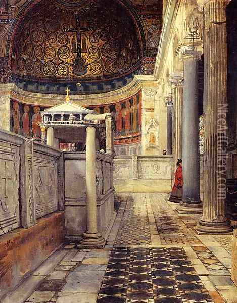 Interior Of The Church Of San Clemente Rome Oil Painting - Sir Lawrence Alma-Tadema