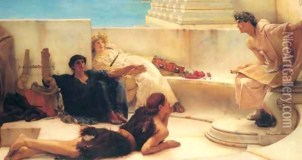A Reading from Homer Oil Painting - Sir Lawrence Alma-Tadema
