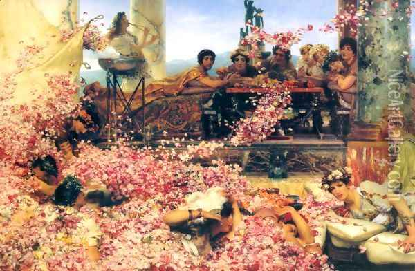 The Roses of Heliogabalus, 1888 Oil Painting - Sir Lawrence Alma-Tadema