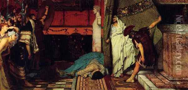 A Roman Emperor - Claudius Oil Painting - Sir Lawrence Alma-Tadema