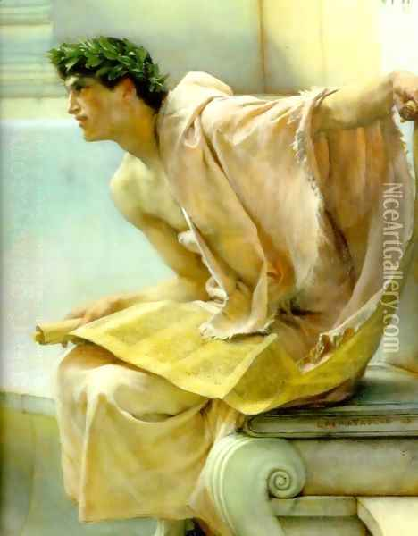 A Reading From Homer Detail Oil Painting - Sir Lawrence Alma-Tadema