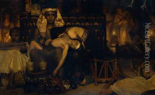 Death of the Pharaoh's Firstborn Son Oil Painting - Sir Lawrence Alma-Tadema