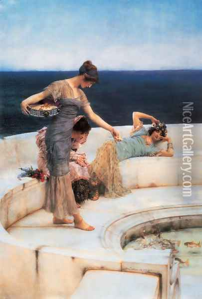 Silver Favorites Oil Painting - Sir Lawrence Alma-Tadema