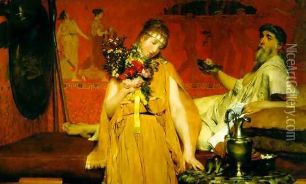 Between Hope and Fear Oil Painting - Sir Lawrence Alma-Tadema