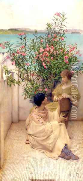 Courtship Oil Painting - Sir Lawrence Alma-Tadema