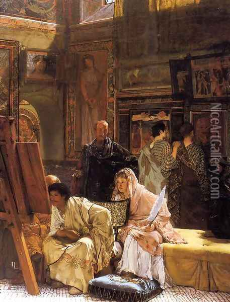 The Picture Gallery Oil Painting - Sir Lawrence Alma-Tadema