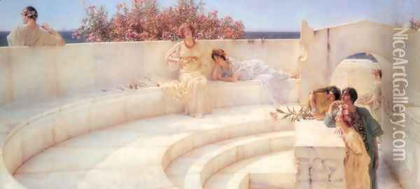 Under the Roof of Blue Ionian Weather Oil Painting - Sir Lawrence Alma-Tadema