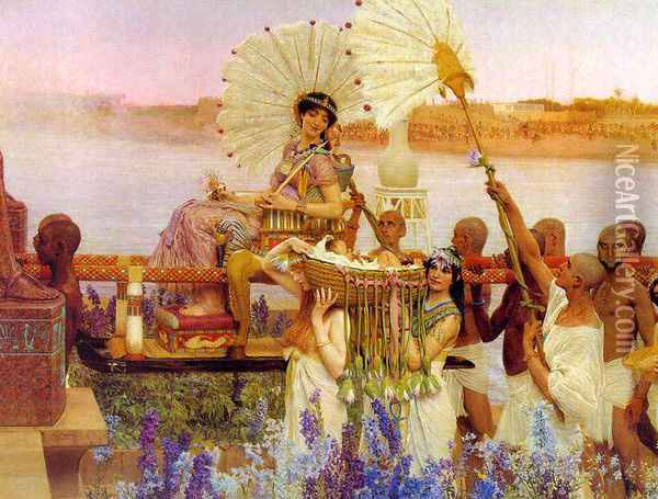 The Finding of Moses Oil Painting - Sir Lawrence Alma-Tadema