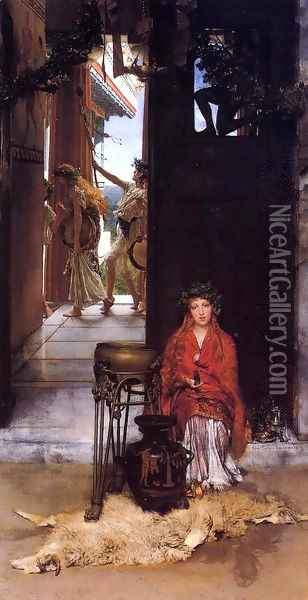 The Way to the Temple Oil Painting - Sir Lawrence Alma-Tadema