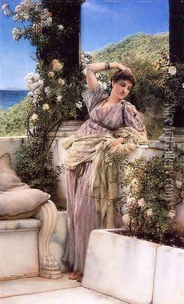 Thou Rose of all the Roses Oil Painting - Sir Lawrence Alma-Tadema