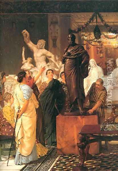 A Sculpture Gallery 1867 Oil Painting - Sir Lawrence Alma-Tadema