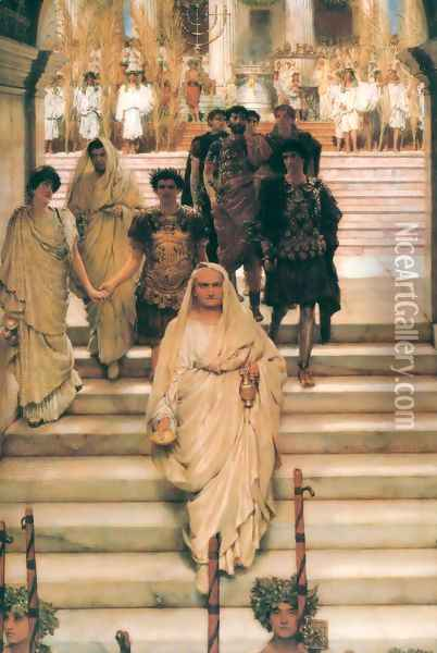 The Triumph of Titus Oil Painting - Sir Lawrence Alma-Tadema