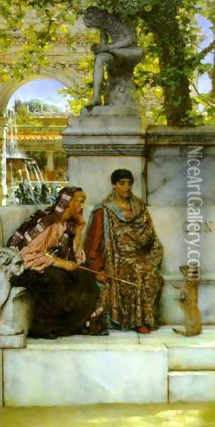 In the Time of Constantine Oil Painting - Sir Lawrence Alma-Tadema