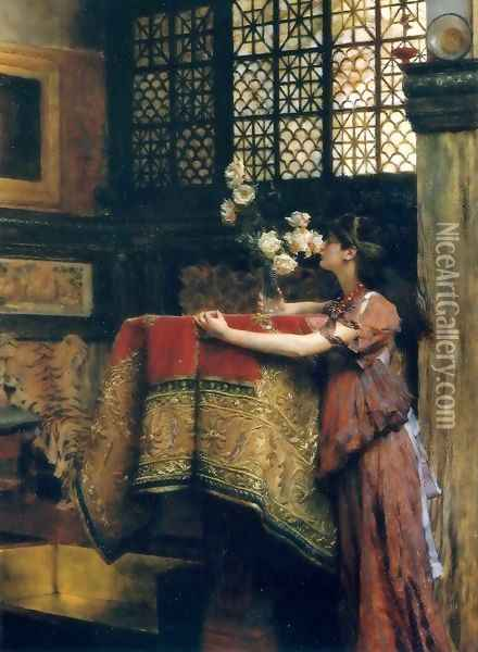 In My Studio Oil Painting - Sir Lawrence Alma-Tadema
