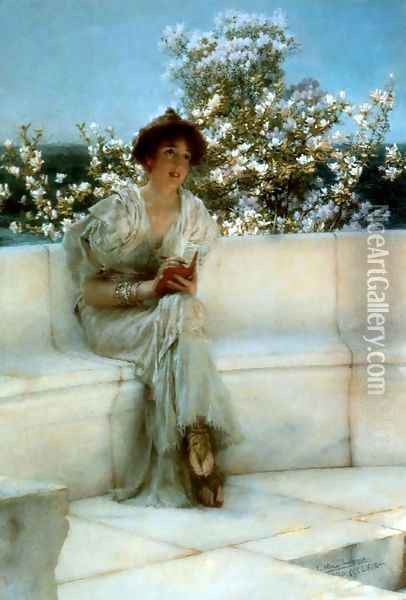 The Years At The Spring All Right With The World 1902 Oil Painting - Sir Lawrence Alma-Tadema