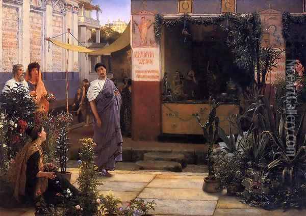 The Flower Market Oil Painting - Sir Lawrence Alma-Tadema