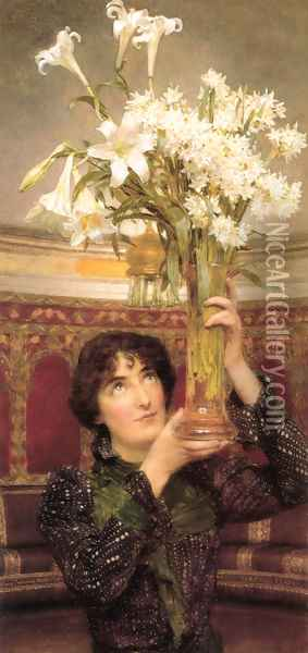 Flag Of Truce Oil Painting - Sir Lawrence Alma-Tadema