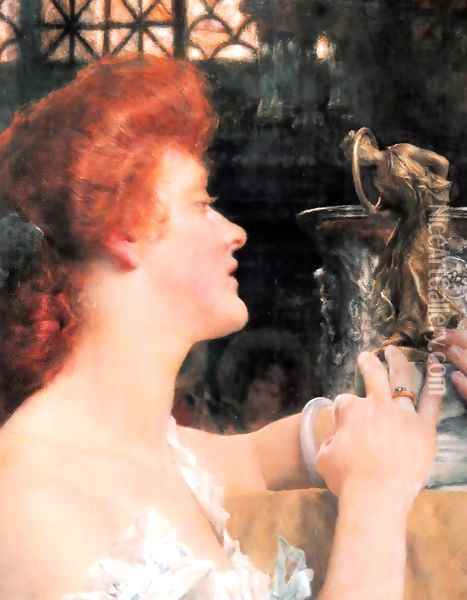 Golden Hour Oil Painting - Sir Lawrence Alma-Tadema