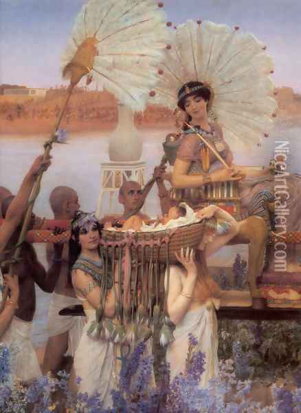 The Finding of Moses [detail] Oil Painting - Sir Lawrence Alma-Tadema