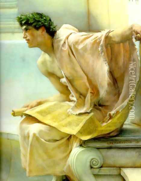 A Reading from Homer (detail) Oil Painting - Sir Lawrence Alma-Tadema