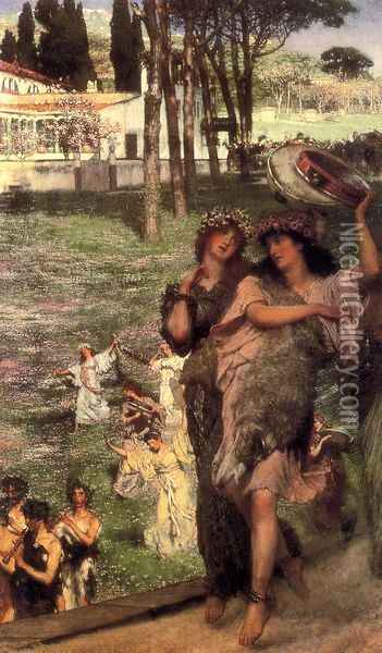 On the Road to the Temple of Ceres: A Spring Festival Oil Painting - Sir Lawrence Alma-Tadema