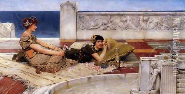 Love's Votaries Oil Painting - Sir Lawrence Alma-Tadema
