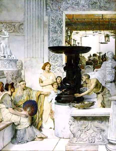 The Sculpture Gallery Oil Painting - Sir Lawrence Alma-Tadema