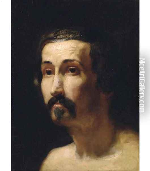 Portrait of a gentleman, bust-length 2 Oil Painting - Sir Lawrence Alma-Tadema