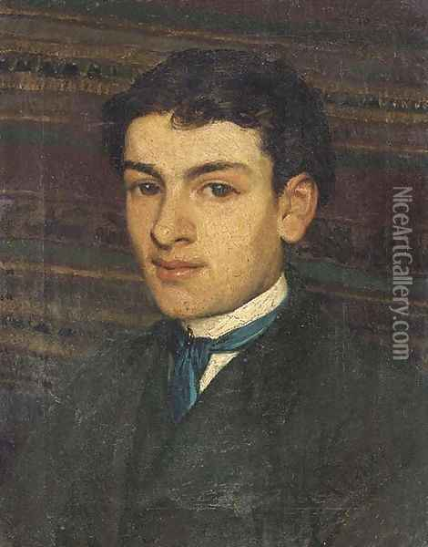 Portrait of a young man 2 Oil Painting - Sir Lawrence Alma-Tadema