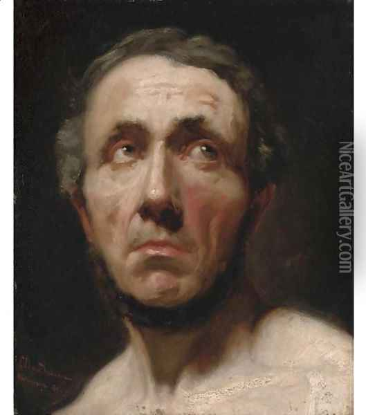 Portrait of a gentleman, bust-length Oil Painting - Sir Lawrence Alma-Tadema