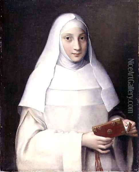 Portrait of the artist's sister in the garb of a nun Oil Painting - Sofonisba Anguissola