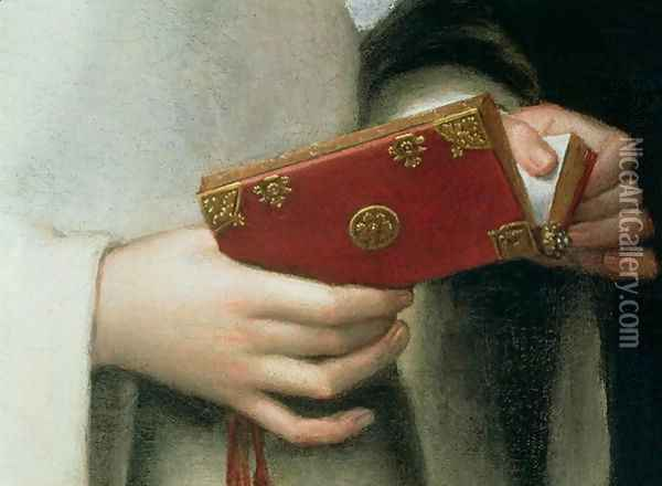 Portrait of the Artist's Sister in the Garb of a Nun (detail) Oil Painting - Sofonisba Anguissola