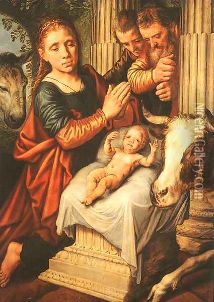 The Adoration of the Shepherds Oil Painting - Pieter Aertsen