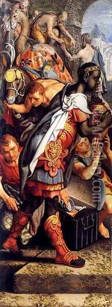 Left wing of a Triptych with the Adoration of the Magi Oil Painting - Pieter Aertsen