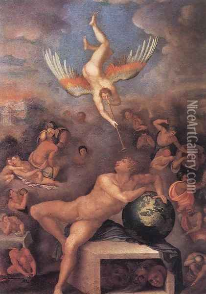 Allegory of Human Life 1570 Oil Painting - Alessandro Allori