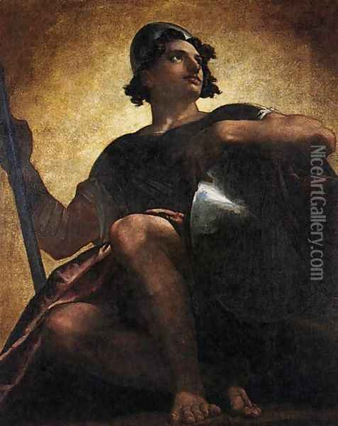 Uriel Standing In The Sun 1817 Oil Painting - Washington Allston