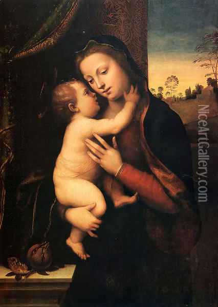 Madonna And Child Oil Painting - Mariotto Albertinelli