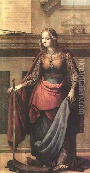 Scene From The Life Of St Catherine Of Alexandria Oil Painting - Giovanni And Pacio Da Firenze