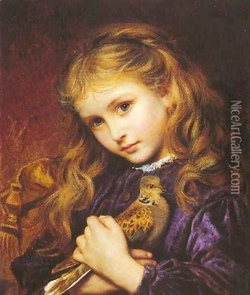 The Turtle Dove Oil Painting - Sophie Gengembre Anderson