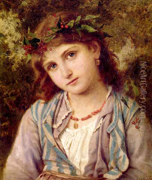 An Autumn Princess Oil Painting - Sophie Gengembre Anderson