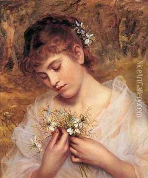 Love In a Mist Oil Painting - Sophie Gengembre Anderson