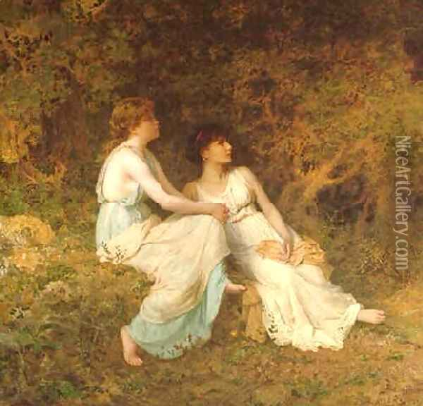 Birdsong Oil Painting - Sophie Gengembre Anderson