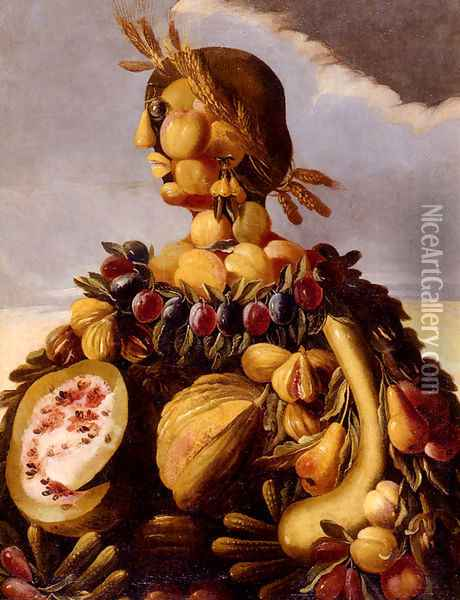 The Seasons Pic 4 Oil Painting - Giuseppe Arcimboldo