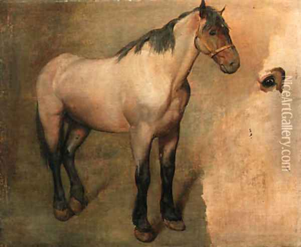 Study of a bay Horse Oil Painting - Jacques Laurent Agasse
