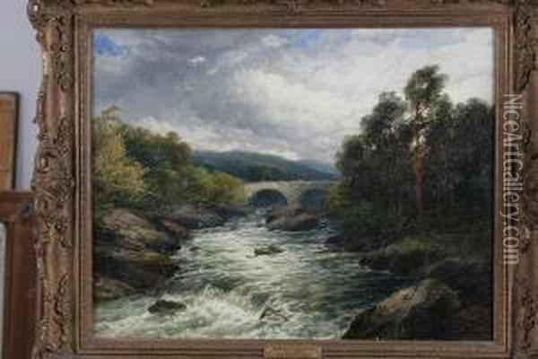 Cascade A Invermoriston Oil Painting - John Brandon Smith