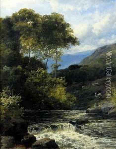 On The Dee - North Wales Oil Painting - John Brandon Smith