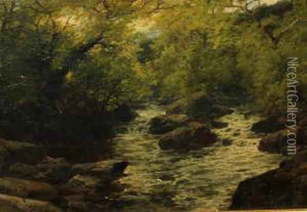 Woodland Falls Oil Painting - John Brandon Smith