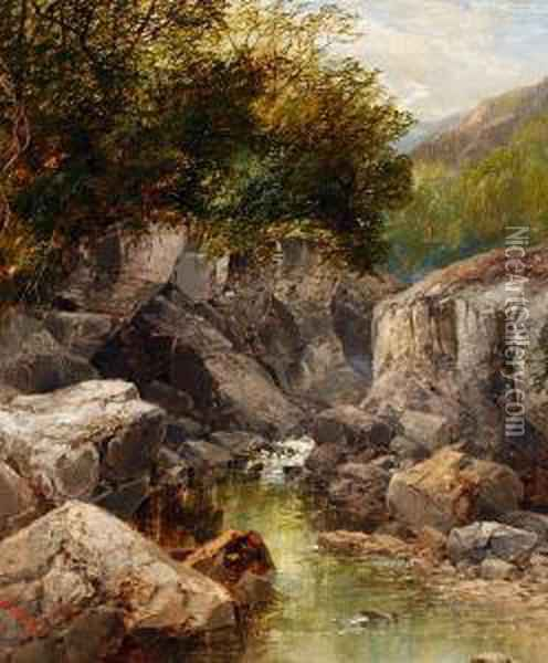 A Sheltered Pool Oil Painting - John Brandon Smith